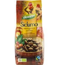 dennree Sidamo-Röstkaffee, Transfair, gemahlen,  250 gr Packung