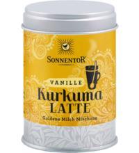 Sonnentor Kurkuma-Latte Vanille - Goldene Milch, 60 gr Dose