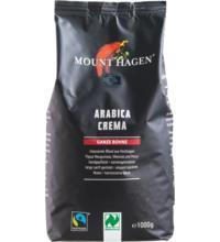 Mount Hagen Fair Trade Röstkaffee Crema, ganze Bohne, 1 kg Packung
