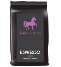 Cavallo Nero Espresso mild, gemahlen, 250 gr Packung