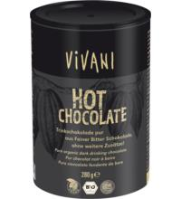Vivani Hot Chocolate pur, geraspelte Schokolade, 280 gr Dose
