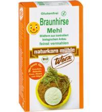 Werz Braunhirse, gemahlen, 500 gr Packung -glutenfrei-