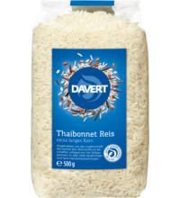 Davert Thaibonnet Langkorn Reis, weiß, 500 gr Packung