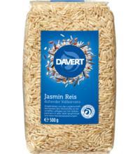 Davert Jasmin-Reis, braun, ungeschält, 500 gr Packung