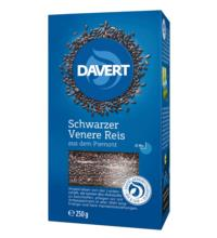 Davert Schwarzer Piemont Reis Duftender Naturreis, 250 gr Packung