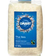 Davert Thai Reis weiß, geschält, 500 gr Packung - fairtrade -