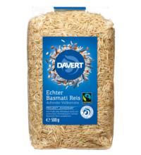 Davert Echter Basmati-Reis, braun, ungeschält, 500 gr Packung