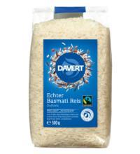 Davert Echter Basmati-Reis, weiß, geschält, 500 gr Packung -fairtrade-