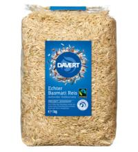 Davert Echter Basmati-Reis, braun, ungeschält, 1 kg Packung