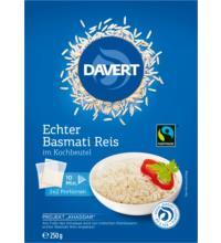 Davert Basmati Reis im Kochbeutel, weiß, 250 gr Packung