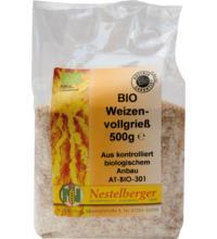 Nestelberger Naturprodukte Weizenvollgrieß, 500 gr Packung
