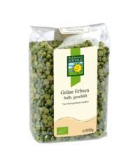 Bohlsener Erbsen, grün, halbe, 500 gr Packung