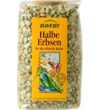 Davert Grüne Erbsen halbe, 500 gr Packung