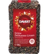 Davert Grüne Delikatess-Linsen, 500 gr Packung