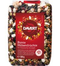 Davert Bunte Hülsenfrüchte, 500 gr Packung