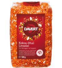 Davert Kokos-Dhal Linselei, 500 gr Packung