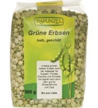 Rapunzel Grüne Erbsen halb, geschält, 500 gr Packung