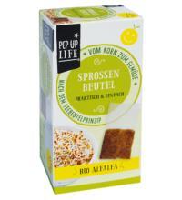 PepUpLife Sprossenbeutel Alfalfa, 4x 12 gr Packung