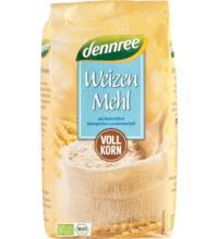 dennree Weizenvollkornmehl, Deutschland/Österreich, 1 kg Packung