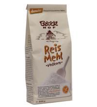 Bauck Hof Reismehl, Vollkorn, 500 gr Packung -glutenfrei-