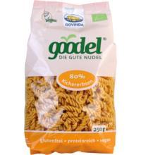 Govinda Goodel  Kichererbse Leinsaat, 250 gr Packung Spirelli