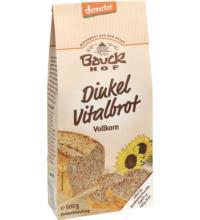 Bauck Hof Dinkel Vitalbrot Vollkorn, 500 gr Packung