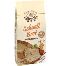 Bauck Hof Schnellbrot mit Brotgewürz, 500 gr Packung -glutenfrei-