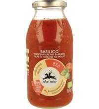 Alce Nero Tomatenpulpe mit Basilikum, 500 gr Glas