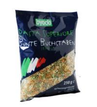 byodo Bunte Buchstaben - Pasta, 250 gr Packung -hell-