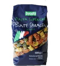 byodo Bunte Spiralen, 500 gr Packung -hell-