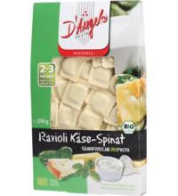 D'Angelo Ravioli mit Käse- Spinat- Füllung, 250 gr Packung