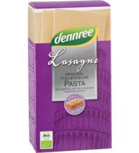 dennree Hartweizen-Lasagne, 250 gr Packung -Vollkorn-