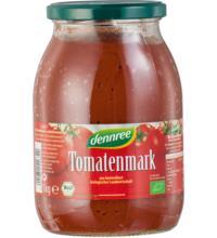 dennree Tomatenmark, 22% Trockenmasse, 1 kg Glas