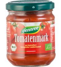 dennree Tomatenmark, 22% Trockenmasse, 100 gr Glas