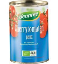 dennree Cherrytomaten, ganz, ungeschält, 400 gr Dose ungeschält