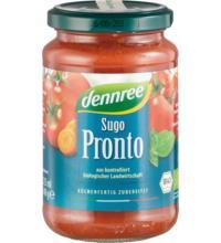 dennree Tomatensauce Sugo Pronto, Tomatensauce mit Gemüse, 340 gr Glas