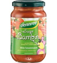 dennree Sugo Bambini, Kinder Tomatensauce, 350 gr Glas