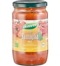 dennree Sugo Famiglia, fruchtig-aromatisch, 660 gr Glas