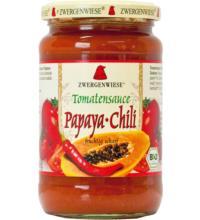 Zwergenwiese Tomatensauce Papaya-Chili, 350 gr Glas
