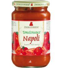 Zwergenwiese Tomatensauce Napoli - besonders mild tomatig, 350 gr Glas