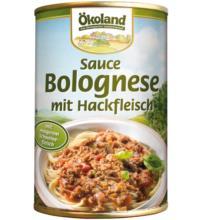 Ökoland Sauce Bolognese mit Hackfleisch, 400 gr Dose