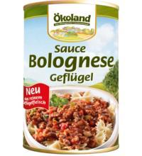 Ökoland Sauce Bolognese Geflügel, 400 gr Dose