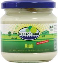 Marschland Aioli, Knoblauch Mayonnaise, 180 gr Glas