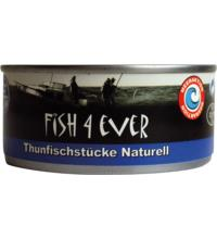 Fish For Ever Thunfischstücke Naturell, 160 gr Dose (112 gr)