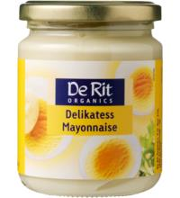 De Rit Delikatess-Mayonnaise, mit Ei, 235 gr Glas  Fettgehalt: 80%