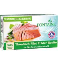 Fontaine Thunfisch - Echter Bonito, in Bio-Sonnenblumenöl,120 gr Dose (90 gr)