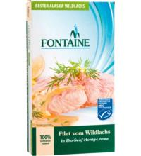 Fontaine Wildlachs-Filet, in Senf-Honig-Creme , 200 gr Dose (120 gr)