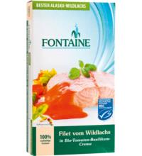Fontaine Wildlachs-Filet,  in Tomaten-Basilikum-Creme,  200 gr Dose  (120 gr)