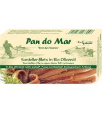 Pan do Mar Sardellenfilets,  in Bio-Olivenöl extra nativ, 50 gr Dose (30 gr)