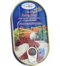Fischzauber Feinste Heringsfilets Feinschmeckerplatte, 200 gr Dose